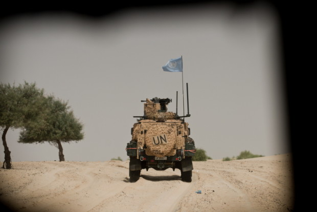 Galt med FN-flagga på patrull kring Timbuktu, Mali.